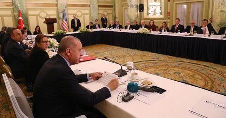 Erdoğan, ABD'de yuvarlak masa toplantısına katıldı