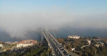 İstanbul Boğazı'nda muhteşem sis manzarası havadan görüntülendi