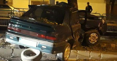Otomobil ağaca çarptı: 1 ağır yaralı