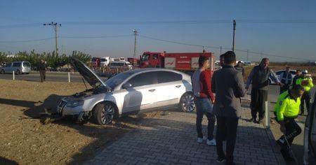 Otomobil refüje çarpıp takla attı: 3 yaralı