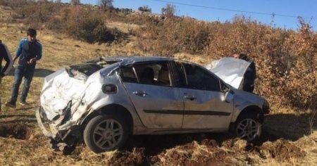 Siirt'te otomobil şarampole uçtu: 1 yaralı