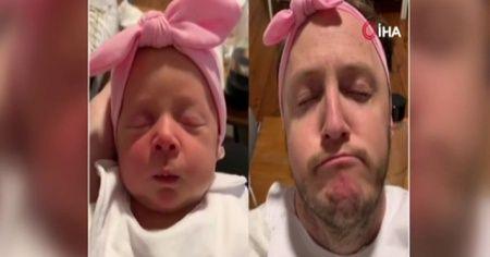 Ünlü komedyenin bebeğini taklit etiği video en çok izlenenler arasında