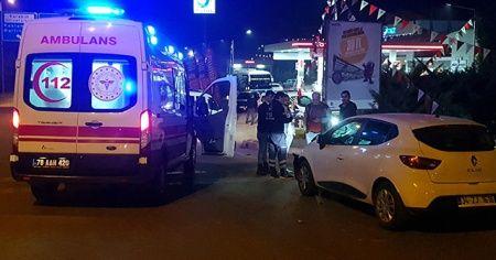 Yolun karşısına geçen kadına otomobil çarptı