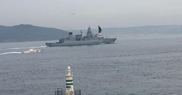 Alman savaş gemisi FGS Hamburg Çanakkale'de