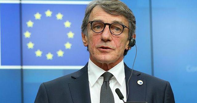 AP Başkanı Sassoli: Türk hükümetine maddi yardımda bulunmuyoruz