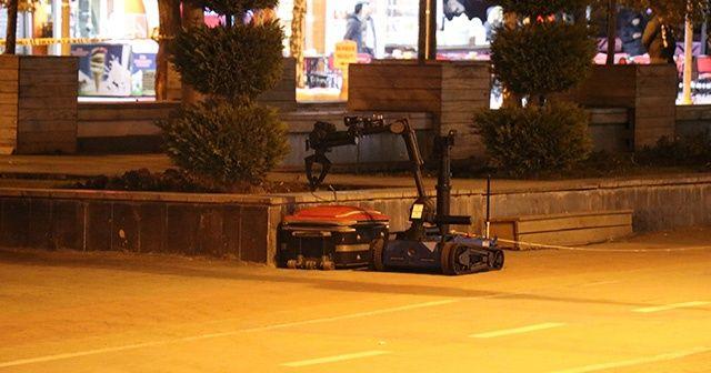 Bolu'da şüpheli çanta 'Ertuğrul' ile patlatıldı