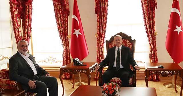 Cumhurbaşkanı Erdoğan, Hamas Siyasi Büro Başkanı İsmail Heniyye'yi kabul etti