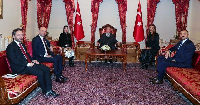 Cumhurbaşkanı Erdoğan, sanatçı Hande Yener ve Demet Akalın'ı kabul etti