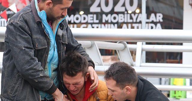 Ehliyetsiz genç karıştığı kazanın ardından gözyaşlarına boğuldu