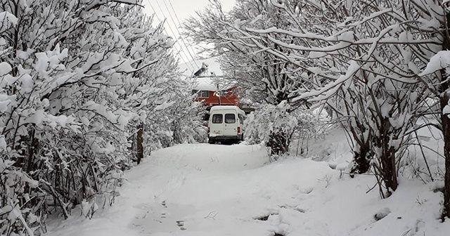 Erzincan'da karın ardından kartpostallık görüntüler oluştu