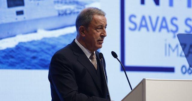 """Hulusi Akar: """"Türkiye terörle mücadelede yalnız bırakıldı"""""""