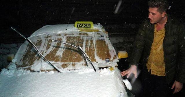 İstanbul'un yanı başı! Kar yağışı başladı