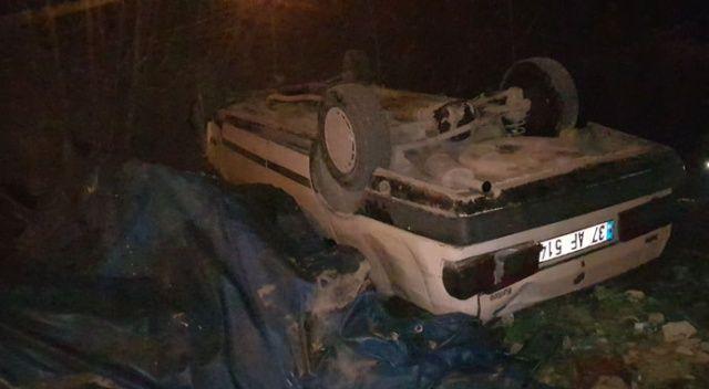 Karabük'te alkollü sürücü takla attı