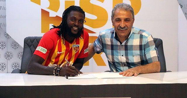 Kayserispor, Emmanuel Adebayor ile yollarını ayırdı