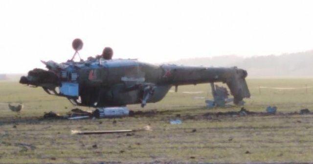 Rus askeri helikopteri takla atarak düştü: 2 ölü