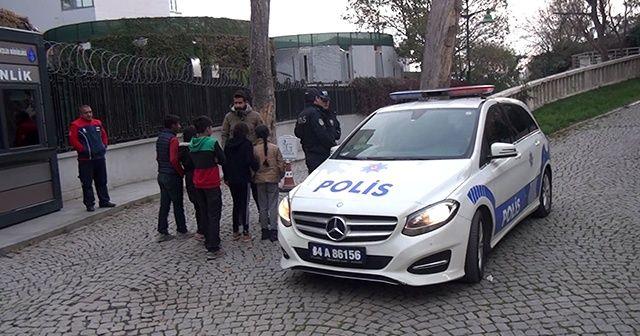 Taksim'de kız çocuklarına sözlü tacize gözaltı