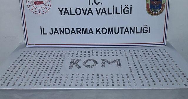 Yalova'da 611 sikke ele geçirildi, 4 kişi yakalandı
