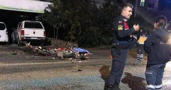 2 motosiklet kafa kafaya çarpıştı: 1 ölü, 1 ağır yaralı