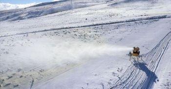45 bin metreküp yapay kar üretildi