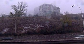 Ankara merkeze mevsimin ilk karı yağdı