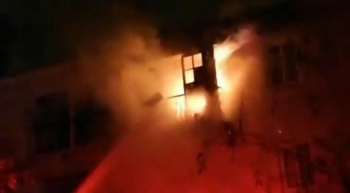 Çeşme'de korkutan yangın