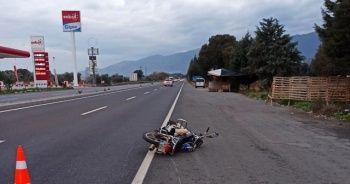Devrilen motosikletteki baba öldü, oğlu yaralandı