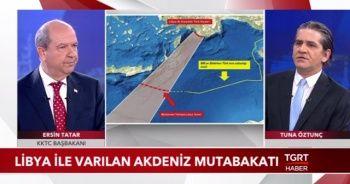 KKTC Başbakanı Ersin Tatar'dan TGRT Haber TV'de önemli açıklamalar