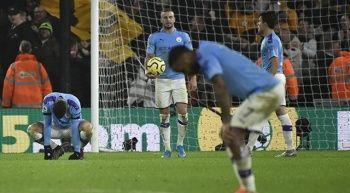 Manchester City, deplasmanda Wolverhampton'a 3-2 mağlup oldu