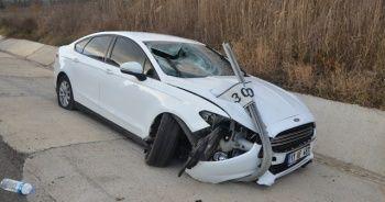 Tekirdağ'da feci kaza! Otomobil karşı şeride geçti: 2 yaralı