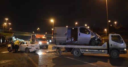 168 promil alkollü sürücü kaza yaptı