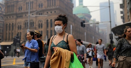 Avustralya'daki yangınlar Sydney'in hava kalitesini düşürdü