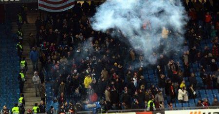 Basel - Trabzonspor maçında Türk taraftarlara çirkin saldırı