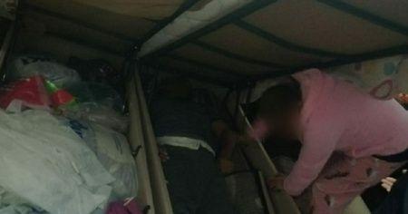 Bazanın içine saklandı, yakalanmaktan kurtulamadı