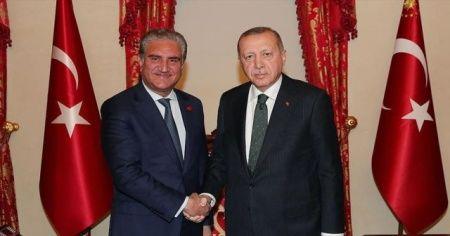 Cumhurbaşkanı Erdoğan, Pakistan Dışişleri Bakanı Kureyşi'yi kabul etti