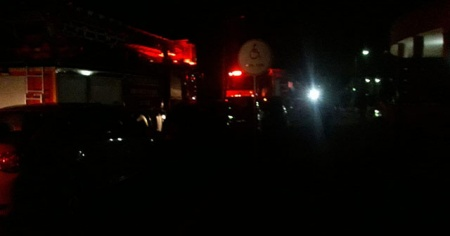 Devlet hastanesinde yangın paniği