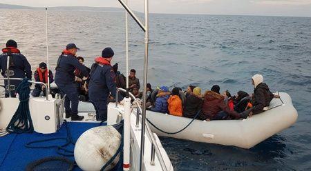 Didim'de 36 düzensiz göçmen yakalandı