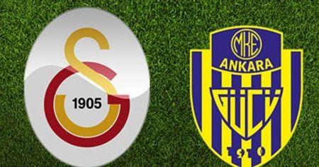 Galatasaray'ın Ankaragücü 11'i belli oldu