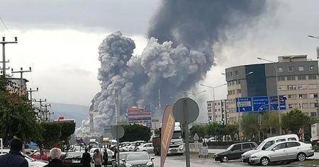 Hatay'da demir çelik fabrikasında şiddetli patlama