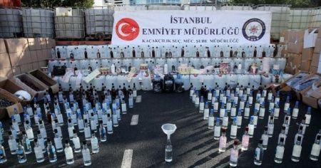 İstanbul merkezli 9 ildeki sahte içki operasyonunda gözaltı sayısı 80'e yükseldi