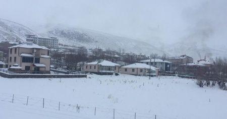 Karlıova'da kar yağışı