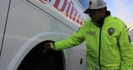 Kış lastiği takmayan araçlara ceza yağdı