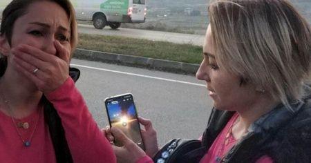 Kocası videoyu gönderince gözyaşlarına boğuldu