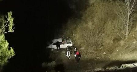 Otomobiliyle uçuruma yuvarlanan sürücü 13 günlük yaşam savaşını kaybetti