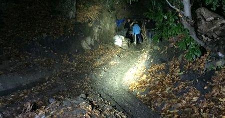Ruhsatsız maden ocağında bir kişi öldü