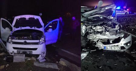 Tekirdağ'da yoğun sis kaza getirdi: 1'i bebek 5 yaralı