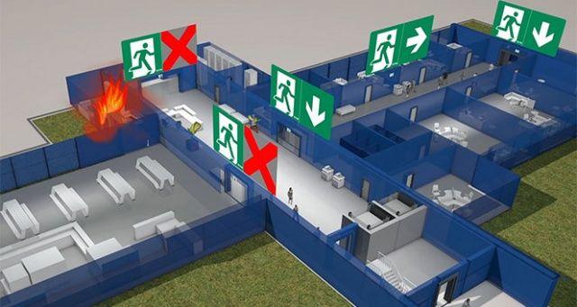 'Bina tahliyelerinde kişilerin yüzde 70'i çıkış işaretlerini fark edemiyor'
