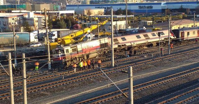Ankara'da bir tren raydan çıktı!