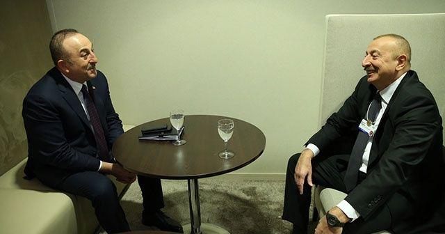Bakan Çavuşoğlu, Azerbaycan Cumhurbaşkanı İlham Aliyev ile görüştü