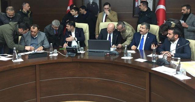 Üç bakan Elazığ'daki kriz merkezinde açıklamalarda bulundu