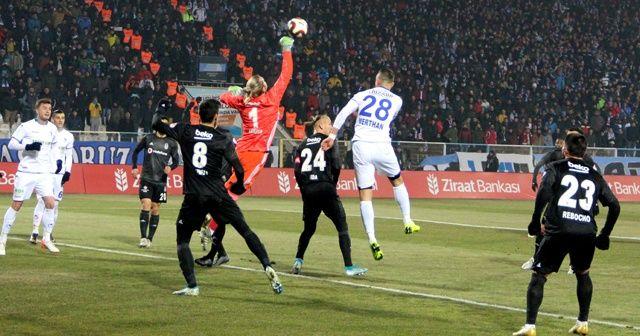 BB Erzurumspor evinde Beşiktaş'ı mağlup etti